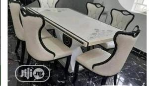 High Quality And Classic Marble Dining Table With Quality Chairs | Furniture for sale in Lagos State, Ojo