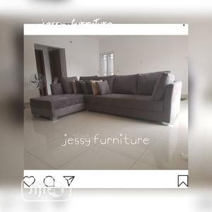 New Set of L-Shaped Sofa With Accessorized Throw Pillows | Furniture for sale in Lagos State, Apapa