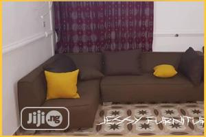 New Set of L-Shaped Sofa,With Accessorized Yellow Throw Pillows | Furniture for sale in Lagos State, Maryland