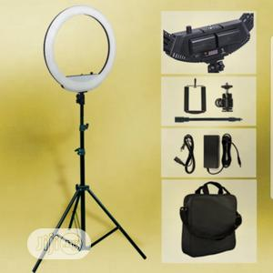 18 Inch Rechargeable Ring Light And Stand | Stage Lighting & Effects for sale in Lagos State, Alimosho