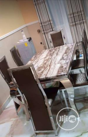 Affordable Quality Marble Dining Table With 6 Chairs | Furniture for sale in Lagos State, Ojota