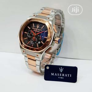 Maserati Chronograph Rose Gold/Silver Chain Watch   Watches for sale in Lagos State, Lagos Island (Eko)