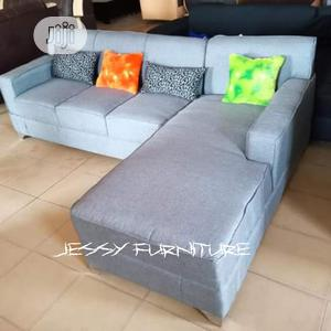 L-Shaped Sofa Accessorized With Colorful Throw Pillows | Furniture for sale in Lagos State, Ikorodu
