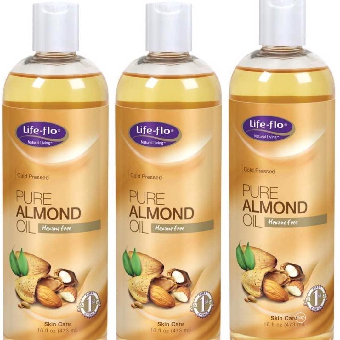 Life-flo Pure Almond Oil Skin Care 16 Fl Oz (473ml)