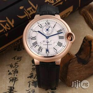 Cartier Chronograph Leather Wristwatch   Watches for sale in Lagos State