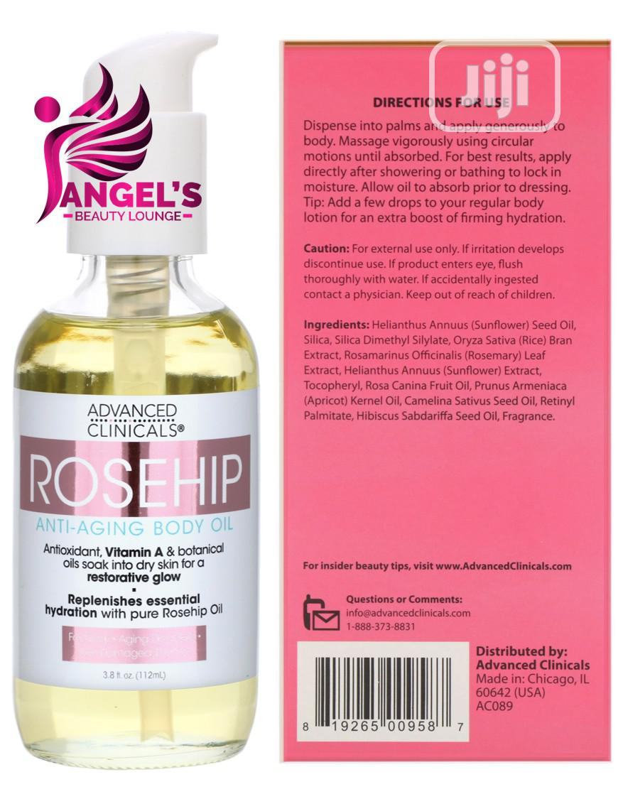 Advanced Clinicals, Rosehip, Anti-aging Body Oil - 112ml   Skin Care for sale in Ojo, Lagos State, Nigeria