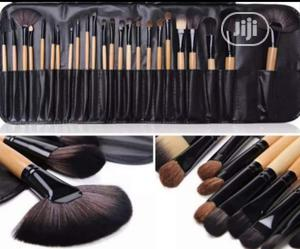 24pcs Makeup Brushes Tools Makeup Brush Set + Leather Pouch   Makeup for sale in Lagos State, Ikeja