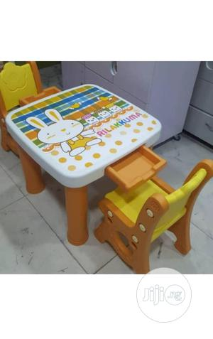 Kids Plastic Table And Chair With Drawer   Children's Furniture for sale in Lagos State, Lagos Island (Eko)