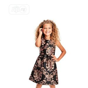The Children's Place Girls Metallic Jacquard Black Dress | Children's Clothing for sale in Lagos State, Surulere