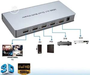 HDMI Quad Splitter Multiple Switcher 4 Input 1 Output | Accessories & Supplies for Electronics for sale in Lagos State, Ojo