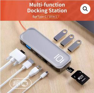 USB-C Type C 10 In 1 Multifunctional Hub Adapter   Computer Accessories  for sale in Lagos State, Ikeja
