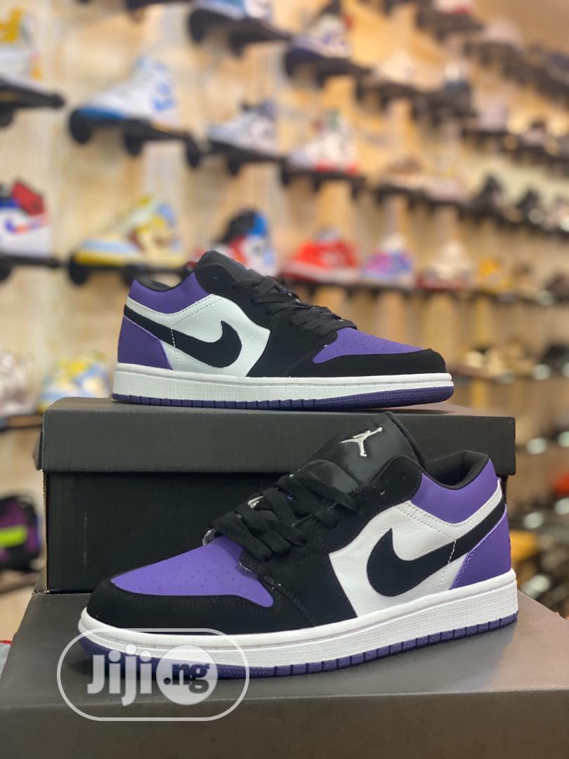 Air Jordan 1 Low Court Purple Sneakers Original
