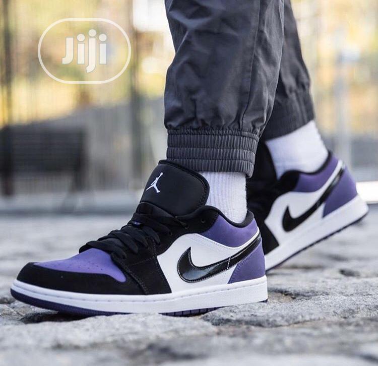 Air Jordan 1 Low Court Purple Sneakers Original   Shoes for sale in Surulere, Lagos State, Nigeria