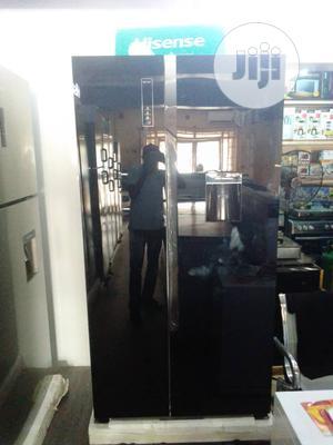 Hisense 514L Side-by-side Black Glass Fridge- REF67WSBG | Kitchen Appliances for sale in Lagos State, Ikeja
