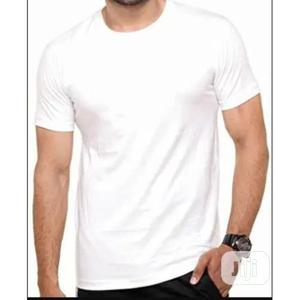 Men's Plain Quality Round Neck T-Shirt (White) | Clothing for sale in Lagos State, Agege