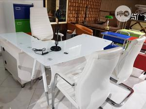 White Executive Glass Table And Chairs | Furniture for sale in Lagos State, Lagos Island (Eko)