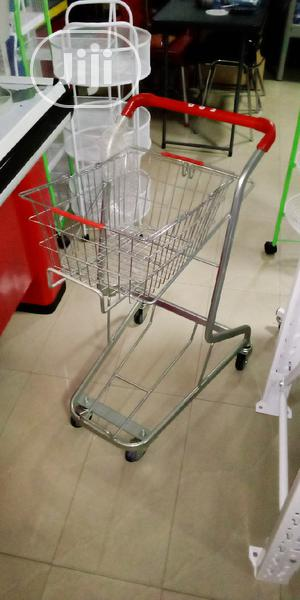 Supermarket Trolly With One Basket Iron.   Store Equipment for sale in Lagos State, Victoria Island