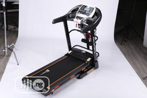 Bodyfit 2.5hp Treadmill With Massager,Mp3, Incline Dumbbells   Sports Equipment for sale in Lagos State, Surulere