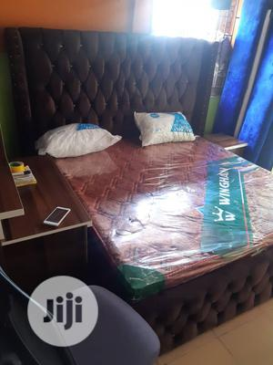 6x6 Upholstery Bedframe With Imported Orthopedic Spring Foam | Furniture for sale in Lagos State, Ojo