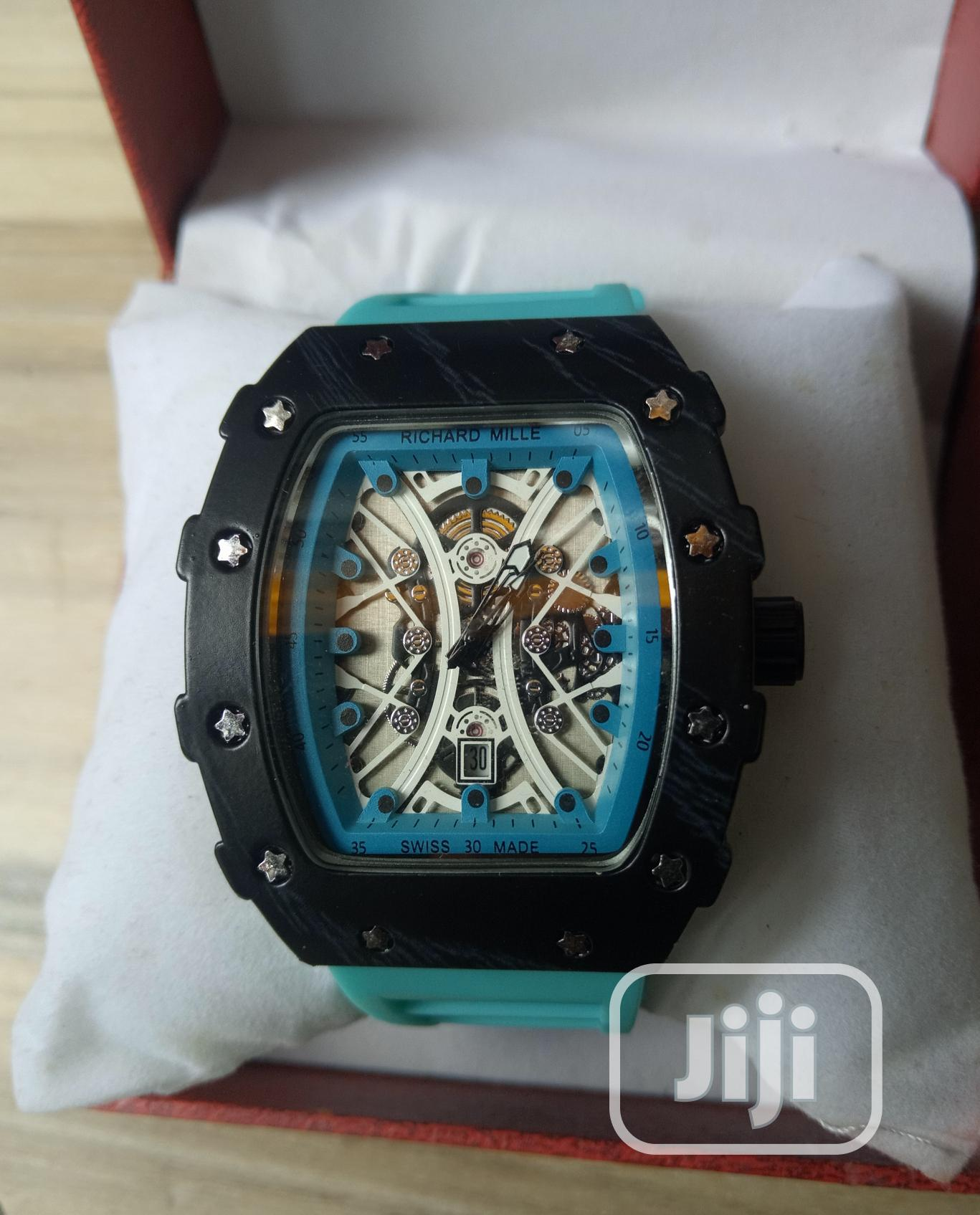 Richard Mille Men's Blue Rubber Wristwatch