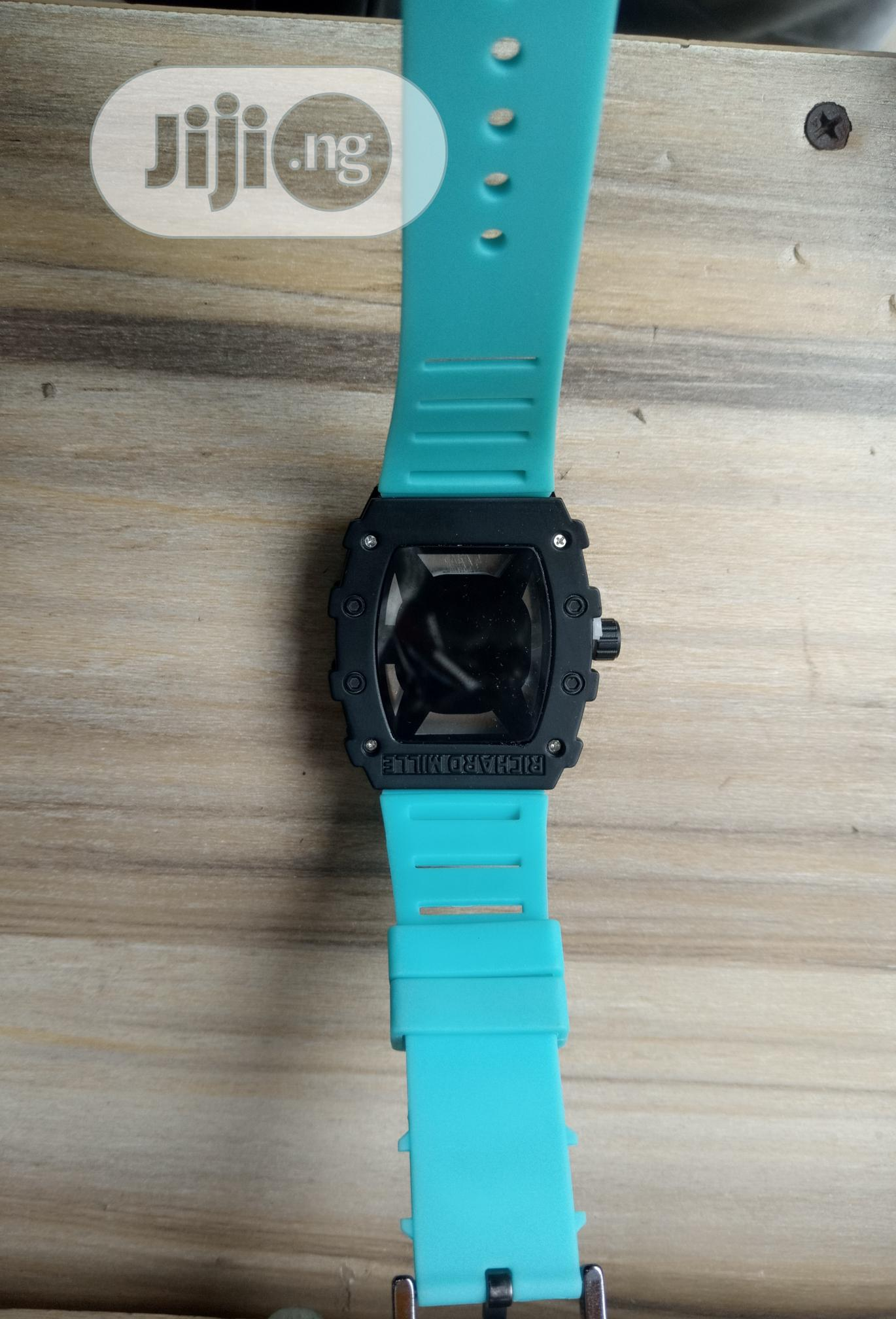 Richard Mille Men's Blue Rubber Wristwatch | Watches for sale in Surulere, Lagos State, Nigeria