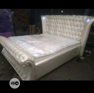Modern Padded Bed Frame | Furniture for sale in Lagos State, Ikorodu