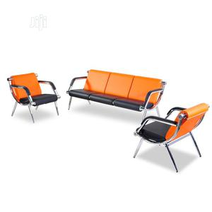 Set Of 5 Sofa Chair - Orange And Black   Furniture for sale in Lagos State, Yaba
