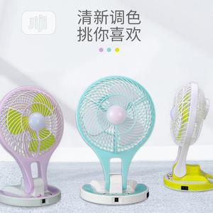 Portable Rechargeable Fan With Ledlight | Home Appliances for sale in Lagos State, Alimosho
