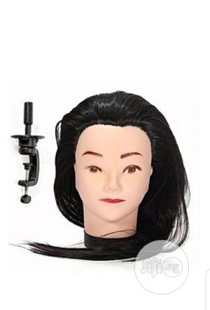 Dummy Wig Head Mannequin With Hair And Clamp | Hair Beauty for sale in Lagos State, Lagos Island (Eko)