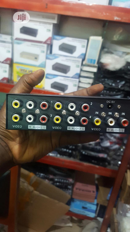 4 Port Av Splitter.   Accessories & Supplies for Electronics for sale in Ikeja, Lagos State, Nigeria