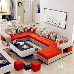 Set Of U-shaped Sofa With A Center Table And Sets Of Ottoman | Furniture for sale in Lagos State, Ikoyi