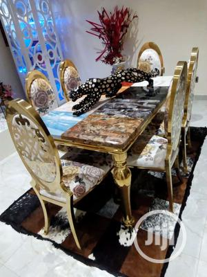 Italian Marble Royal Dinning Table With 6 Chairs | Furniture for sale in Lagos State, Lagos Island (Eko)