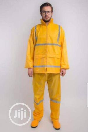 Safety PVC Raincoat With Reflector Tapes | Safetywear & Equipment for sale in Lagos State, Lagos Island (Eko)