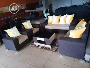 Set Of 7 Seaters Sofa Chairs With Table - Fabric Couch | Furniture for sale in Lagos State, Ikeja