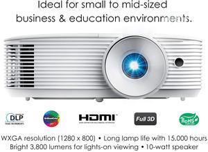 Optoma W335 WXGA DLP Professional Projector | Bright 3800 Lu | TV & DVD Equipment for sale in Lagos State, Ikeja