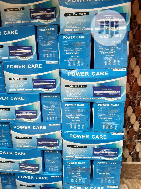 12V 200ah Power Care Solar Battery | Solar Energy for sale in Ojo, Lagos State, Nigeria