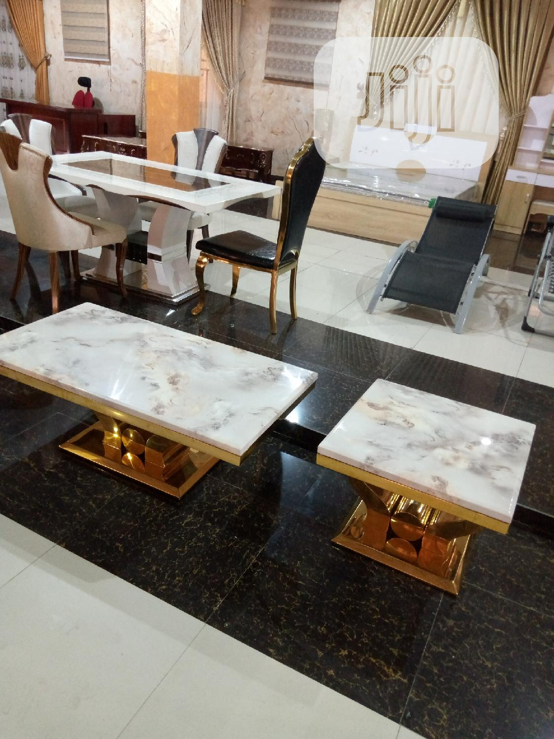Archive: White Center Table With Side Stool