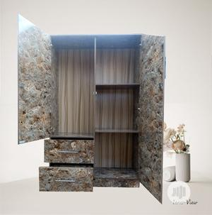 Trending Wardrobe / Cabinet Glossy Brown Marble (Furniture) | Furniture for sale in Oyo State, Ibadan