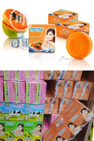 Mena Papaya Soap, Cooling Formula For Lightening And Refresh   Bath & Body for sale in Lagos State, Amuwo-Odofin