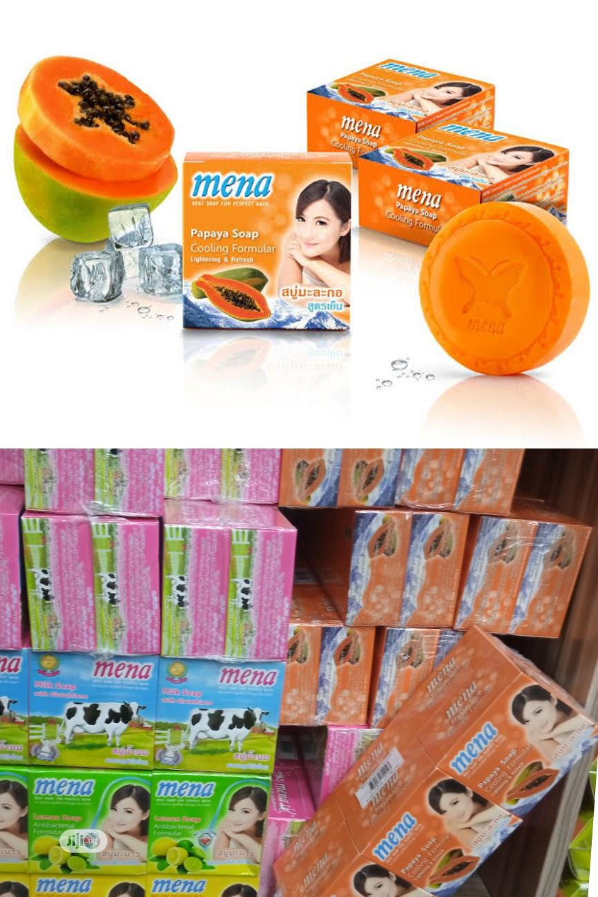Mena Papaya Soap, Cooling Formula For Lightening And Refresh