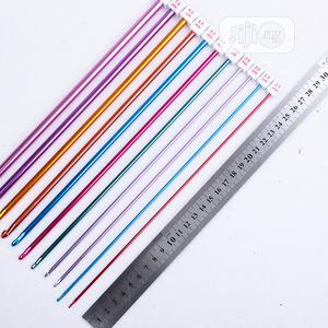 Aluminum TUNISIAN AFGHAN Crochet Hook Knit Needles Set   Arts & Crafts for sale in Abuja (FCT) State, Kubwa