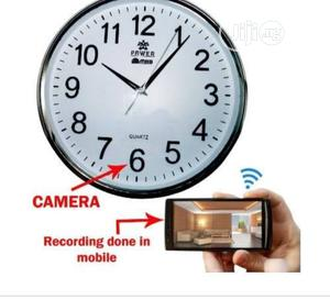 Spy Video Camera Wall Clock Wifi   Security & Surveillance for sale in Lagos State, Ikeja