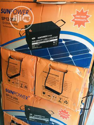 200ah 12v Sunpower Battery Available With 1yr Warranty | Solar Energy for sale in Lagos State, Ikeja