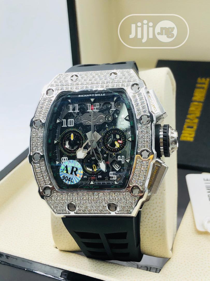 Original Richard Mille Rubber Strap Watch | Watches for sale in Magodo, Lagos State, Nigeria