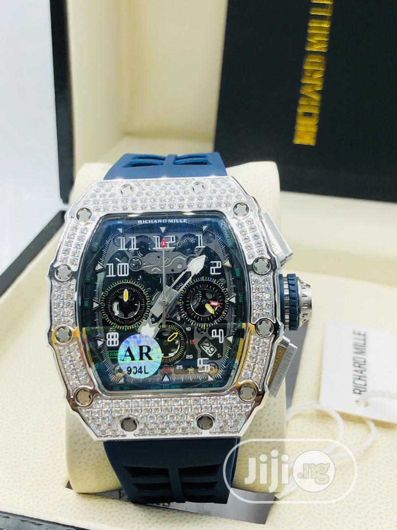 Original Richard Mille Rubber Strap   Watches for sale in Magodo, Lagos State, Nigeria