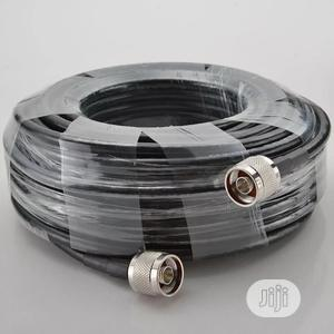Black N Male 20 Meters GSM Booster Repeater Cable N-type Ant   Accessories & Supplies for Electronics for sale in Lagos State, Ikeja