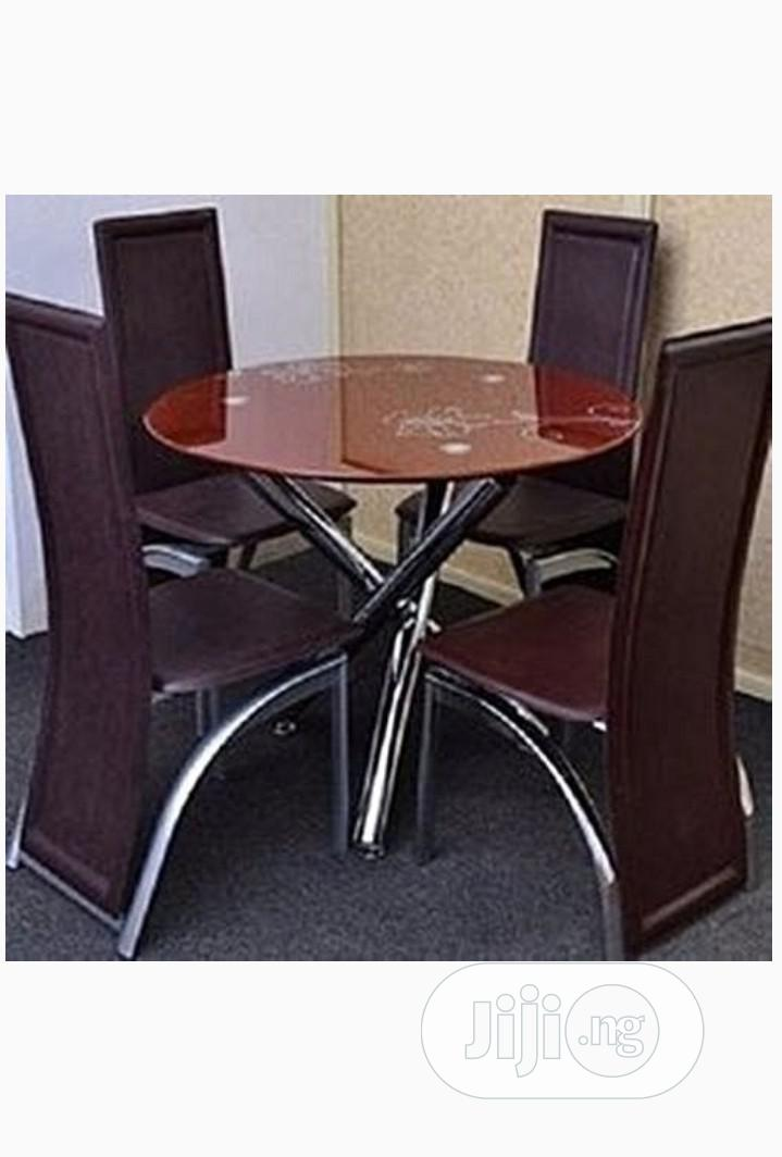 Furniture Dinning Room Round Table Set, Round Dining Set For 4
