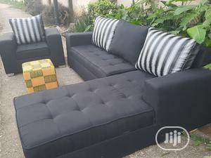 Modern Design L Shape With Single Ottoman | Furniture for sale in Lagos State, Ikorodu