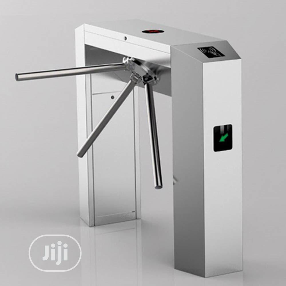 Biometric And Card Support Automatic Tripod Turnstile