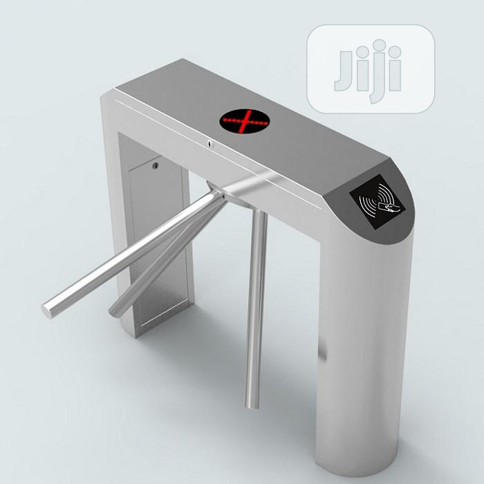 Biometric And Card Support Automatic Tripod Turnstile | Safetywear & Equipment for sale in Ikeja, Lagos State, Nigeria